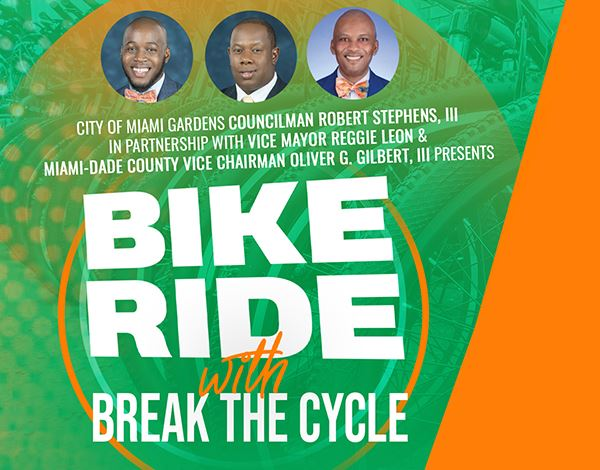 Flyer for Bike Ride With Break The Cycle
